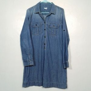 J Crew Chambray shirtdress with utility pockets